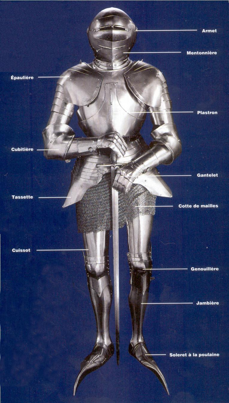Les armes du moyen age - Dessin armure ...